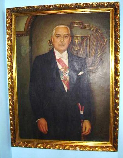 Old painting of the dictator Trujillo from the 1950s