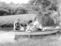 Rita and Berta in Frisky rowboat in the laguna